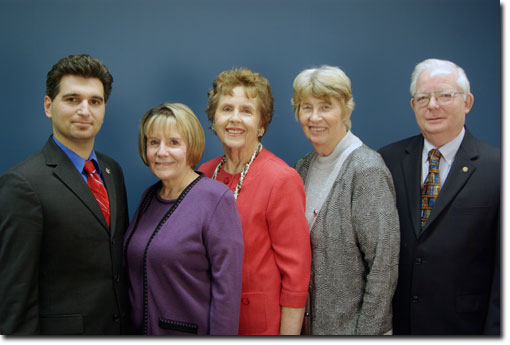 BPLD Board of Trustees - L to R: Salehi, Miller, Fuhrman, Ganer, Salts
